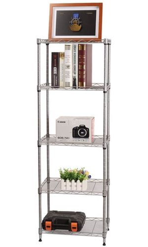 5 Wire Shelving Metal Rack Adjustable Unit Storage Shelves for Laundry Bathroom Kitchen Pantry Closet Silver for Sale in Anaheim, CA