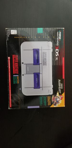 Nintendo New3dsXl SNES limited edition (Bundle with games) for Sale in Quincy, MA