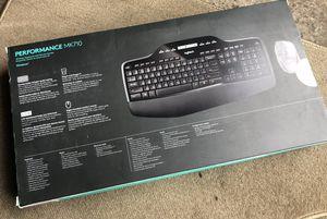 Logitech - Wireless Desktop MK710 Keyboard and Mouse - Black for Sale in Oakland Park, FL