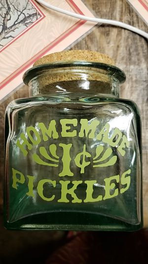 Homemade 1cent pickles jar for Sale in Farmville, VA
