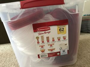 Rubbermaid Takealong 62 piece set for Sale in Ashburn, VA