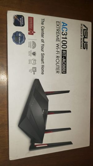 ASUS - AC3100 Dual-Band Wi-Fi Router - Black for Sale in Los Angeles, CA