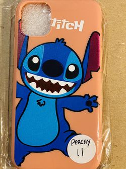 Brand new cool iphone 11 REGULAR 6.1 case cover rubber silicone PEACHY Lilo And Stitch Hawaiian Disneyland disney love fundas girls womens pretty for Sale in Colton,  CA