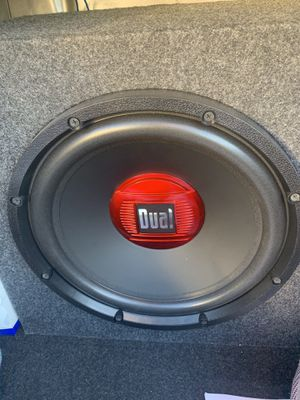 10 inch dual speaker and amp for Sale in Carthage, MO