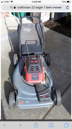 "CRAFTSMAN 22"" SELF PROPELLED LAWN MOWER WITH BAG for Sale in Las Vegas, NV"