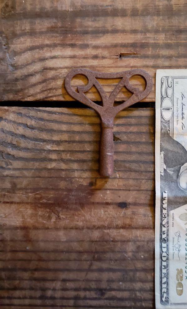 Antique clock key