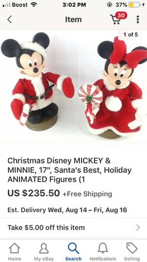 """Mickey and Minnie """"1996"""" holiday animation for Sale in Baltimore, MD"""