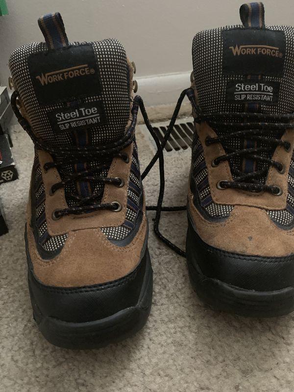 Men's Workforce size 6 1/2 Steel Toe Slip Resistant Boots