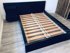 Full Size Malm Bed Frame w/ Side Drawer & Mattress for Sale in Cerritos, CA