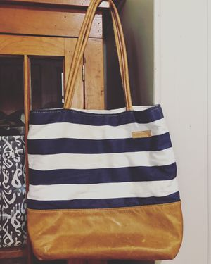 BetterLifeBags Leather/Striped Tote for Sale in Keota, IA