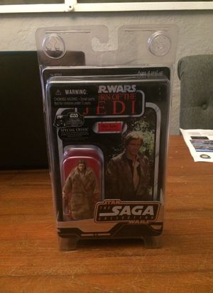 Star Wars The Saga Collection Vintage Style Ultimate Galactic Hunt Han Solo in Trench Coat action figure for Sale in Puyallup, WA