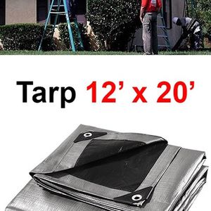 (NEW) $25 Heavy Duty 12'x20' 10mil Canopy Poly Tarp Reinforced Tent Car Boat Cover Tarpaulin for Sale in El Monte, CA