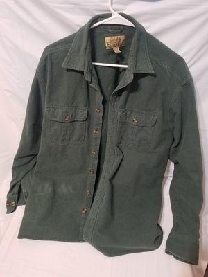 Cabelas deerskin soft chamois XL tough work shirt green for Sale in Riverbank, CA