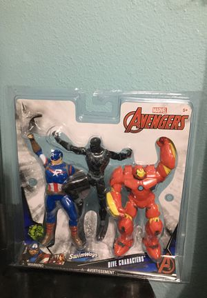 Marvel swimways black panther iron man captain America for Sale in Paramount, CA