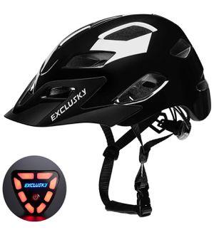 Adult Road Bike Helmet with USB Rear Light, CPSC Certified Bicycle Cycling Helmets, Adjustable Lightweight Helmet for Urban Commuter Women Men, 22.05 for Sale in Modesto, CA