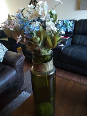 Glass flower vases 18 inches for Sale in Fresno, CA