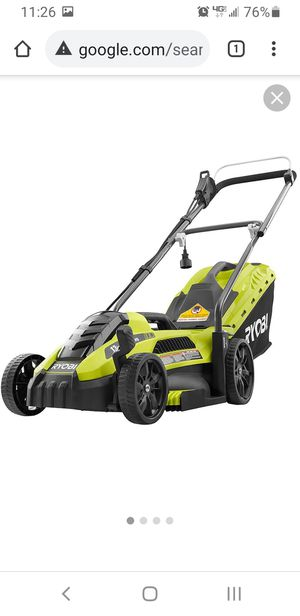 """Ryobi 13"""" corded electric lawn mower like new. for Sale in DEVORE HGHTS, CA"""