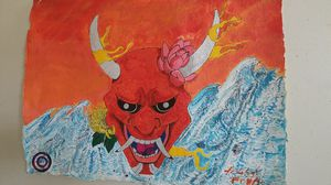 Oni mask painting for Sale in Baltimore, MD