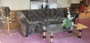 glass coffee table, 2 side tables and matching lamos for Sale in Millville, NJ