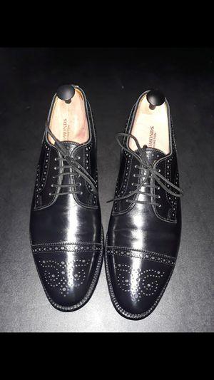 Men Allen Edmonds Black Captoe Dress shoes Size 9C for Sale in Queens, NY