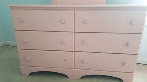 Pink Dresser with Mirror - see also Pink Nightstand and see Pink Full/Queen Bedroom Set for Sale in St. Louis, MO