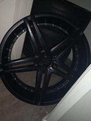 22in black Versante rims for Sale in Benbrook, TX