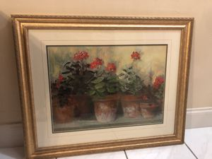 Bombay Kathleen's Geraniums Framed canvas (authentic) for Sale in Miami, FL
