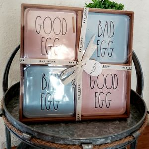 """Brand New Rae Dunn Easter """"Good Egg"""" And """"Bad Egg"""" Coasters for Sale in Upland, CA"""