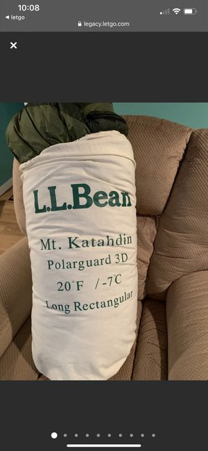 """L.L. Bean Adult Sleeping Bag Long Rectangular (80"""" x 34"""")- Used only once in East Northport for Sale in East Northport, NY"""