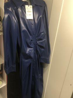 Zara Blue Faux Leather Dress for Sale in Philadelphia,  PA