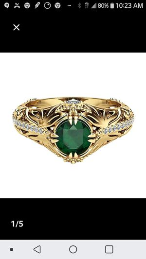 Green crystal ring for Sale in Woburn, MA