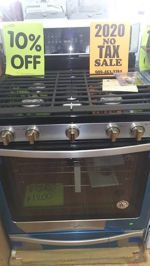 Whirlpool 5 Burner Range ⭐⭐New year new appliance in payments with 39 down no credit needed delivery available🚚 for Sale in Phillips Ranch, CA