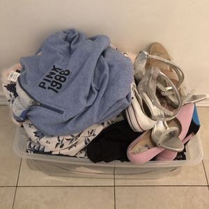 Over 40pcs of women's clothing/shoes size L-XL for Sale in Miami, FL