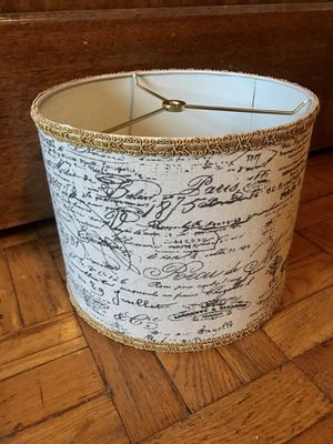 """11"""" Designer Shabby Chic Linen French Script Lampshade Lamp Shade for Sale in Tacoma, WA"""