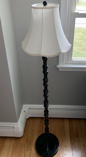 2 cute matching floor lamps complete with shades for Sale in Portland, ME
