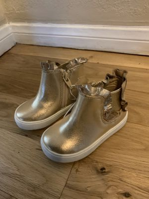 Cat & Jack Size 5 Gold Boots Toddler Girl for Sale in Whittier, CA