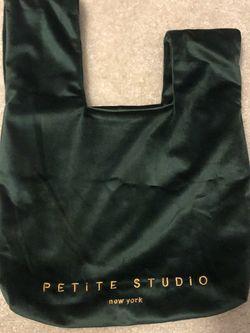 Velvet hand bag- forest green for Sale in San Jose,  CA