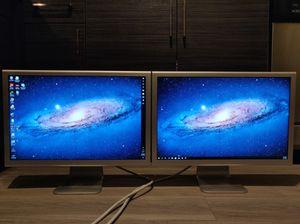 Two Apple HD Cinema Display Monitors 23 Inch 1920x1200 DVI for Sale in Charlotte, NC