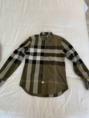 Authentic Burberry shirt (olive green) for Sale in Corona, CA