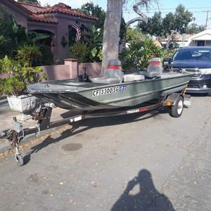 1989 basstracker with trailer 16' for Sale in Long Beach, CA
