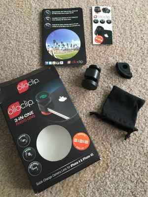 Wide angle, macro and fisheye lens for iPhone 4 & 4S for Sale in Independence, OH