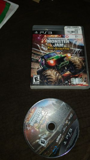 PS3 Monster Jam Path Of Destruction game for Sale in San Diego, CA