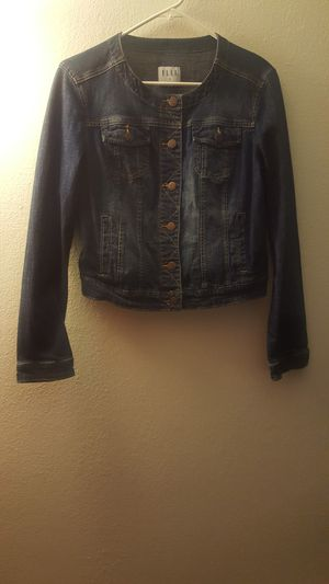 Elle dark blue jean jacket for Sale in South Holland, IL