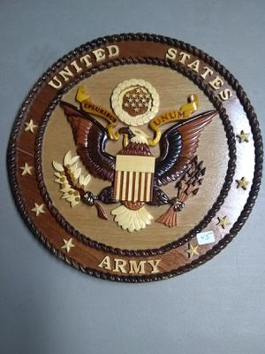 Hand carved Army Plaque for Sale in Hermon, ME