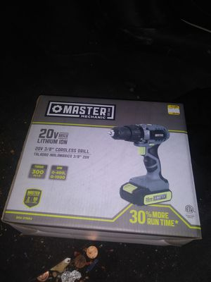 We have a master mechanic power drill brand new in box as well as a brand new battery charger ...$50 a piece or both for$ 80 for Sale in Philadelphia, PA
