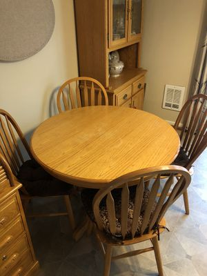 Solid wood Oak dining table for Sale in Bonney Lake, WA