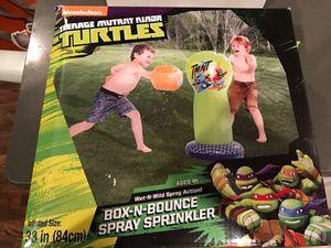 Teenage mutant ninja turtles box and bounce spray sprinkler new never used for Sale in West Springfield, VA