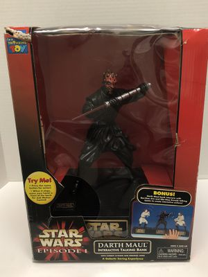 Star Wars Episode 1 Darth Maul Interactive Talking Bank for Sale in Irvine, CA