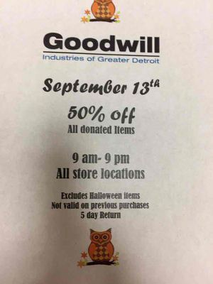 50% off all donated items for Sale in Woodhaven, MI