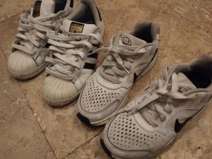 2 pair childrens sneakers size 5.5 and 3.5 for Sale in El Monte, CA